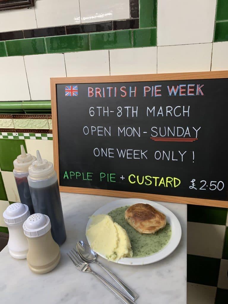 Pie and Mash week